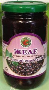 Изображение Желе ягодное с мякотью из черной смородины 450гр.